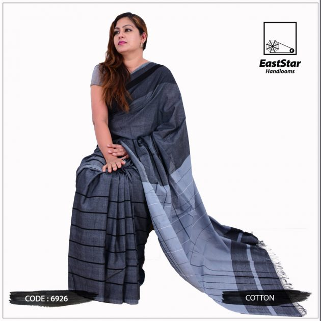 Code #6926 Handloom Cotton Saree