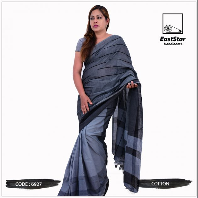 Code #6927 Handloom Cotton Saree