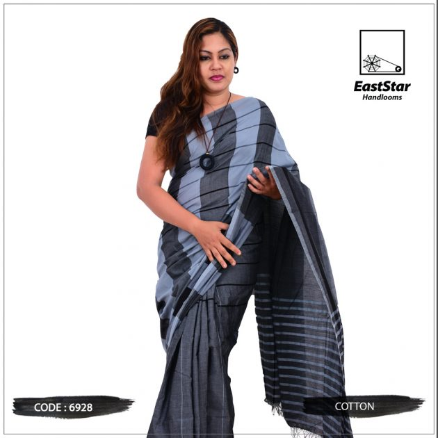 Code #6928 Handloom Cotton Saree