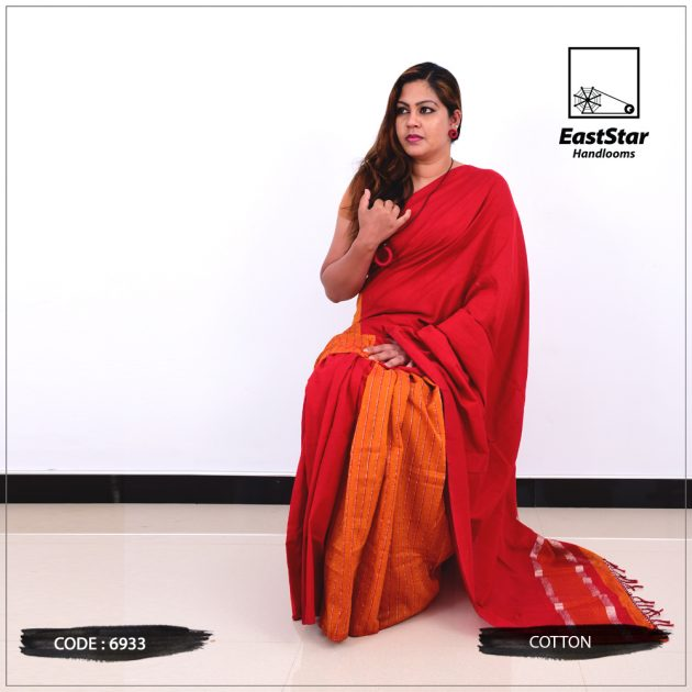 Code #6933 Handloom Cotton Saree