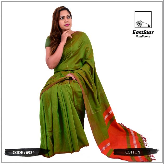 Code #6934 Handloom Cotton Saree