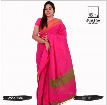 Code #6958 Handloom Cotton Saree