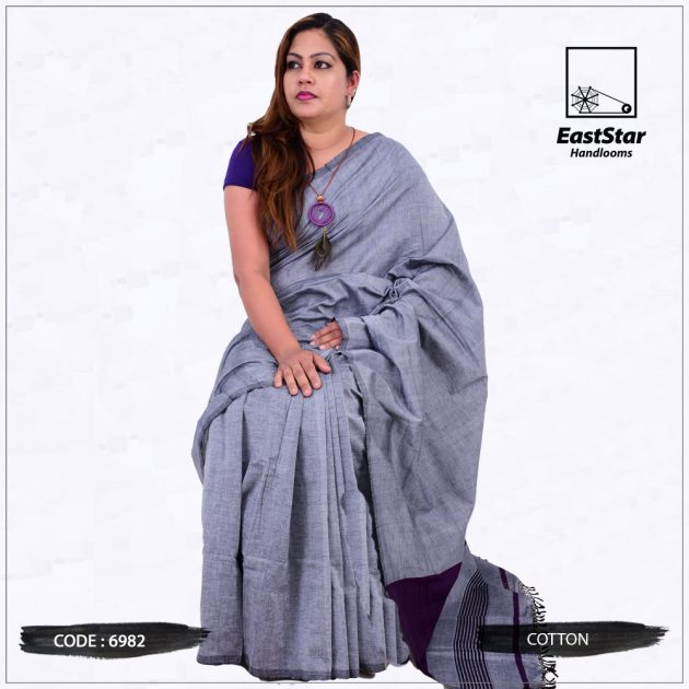 Code #6982 Handloom Cotton Saree