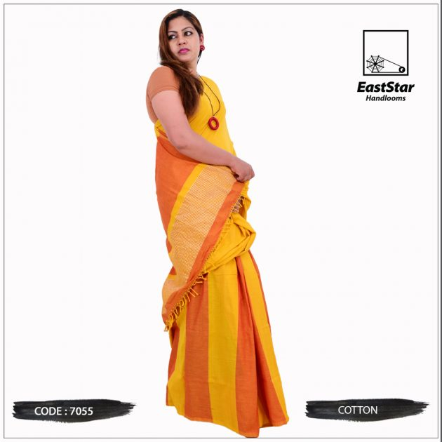 Code #7055 Handloom Cotton Saree