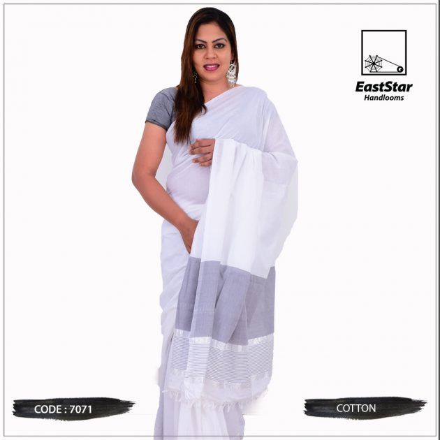Code #7071 Handloom Cotton Saree