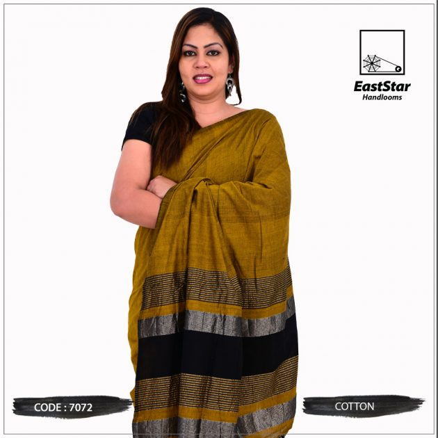 Code #7072 Handloom Cotton Saree