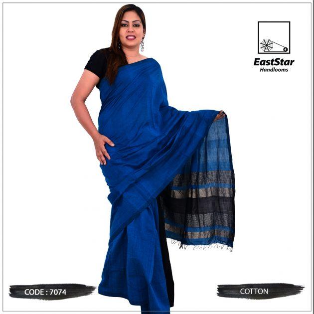 Code #7074 Handloom Cotton Saree