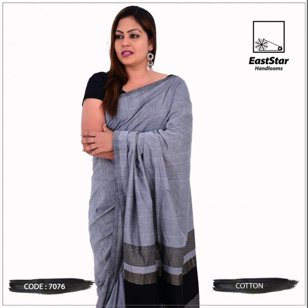 Code #7076 Handloom Cotton Saree