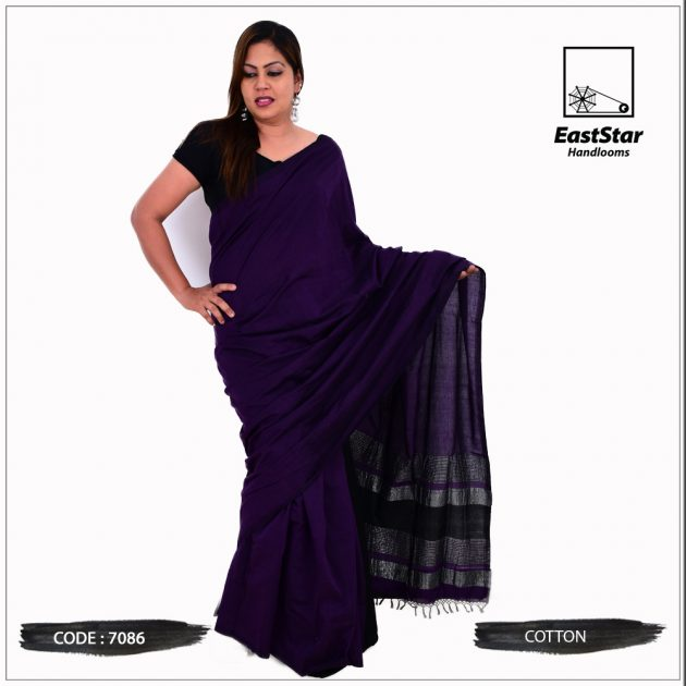 Code #7086 Handloom Cotton Saree