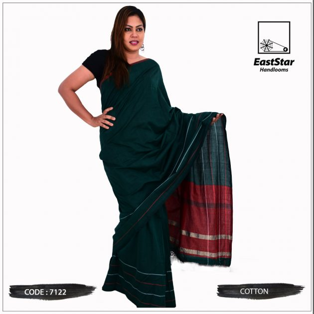 Code #7122 Handloom Cotton Saree