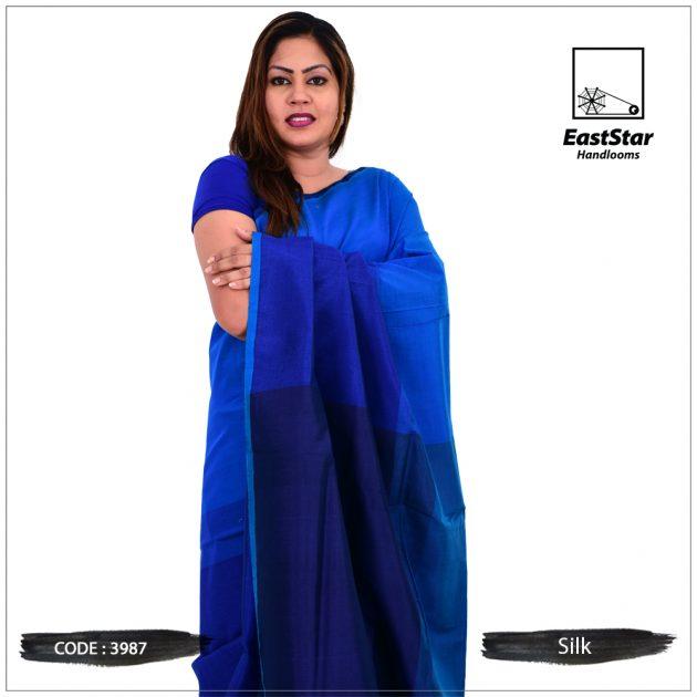 Code #3987 Handloom Silk Saree
