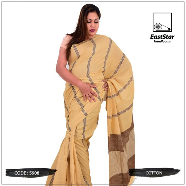 Code #5908 Handloom Cotton Saree