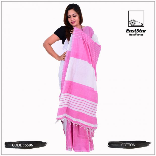 Code #6586 Handloom Cotton Saree