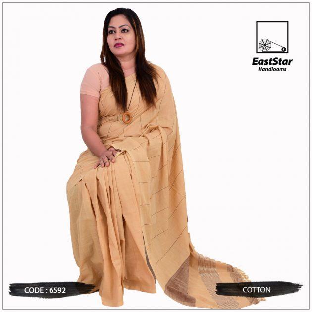 Code #6592 Handloom Cotton Saree