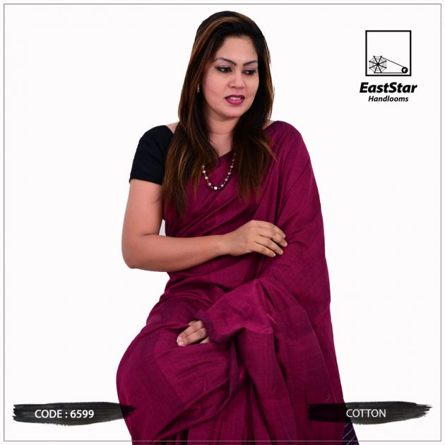 Code #6599 Handloom Cotton Saree