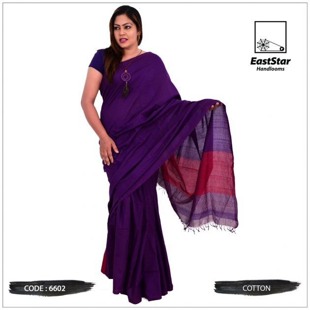Code #6602 Handloom Cotton Saree