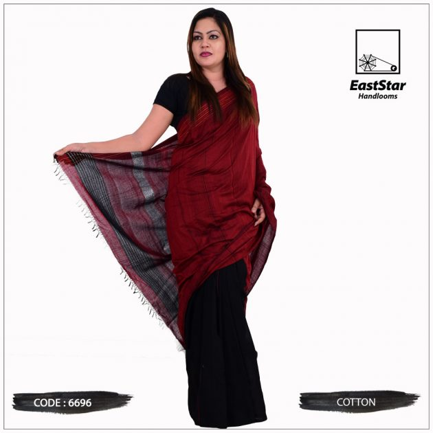 Code #6696 Handloom Cotton Saree