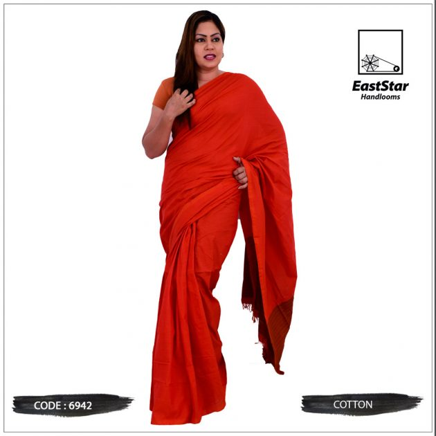Code #6942 Handloom Cotton Saree