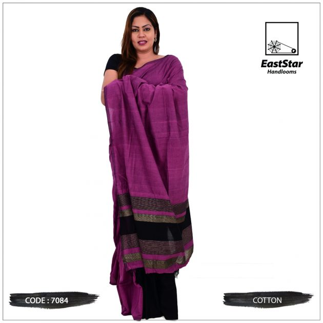 Code #7084 Handloom Cotton Saree