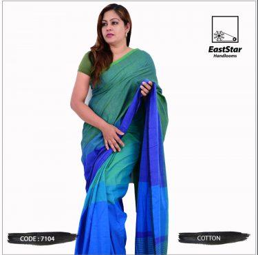 Code #7104 Handloom Cotton Saree
