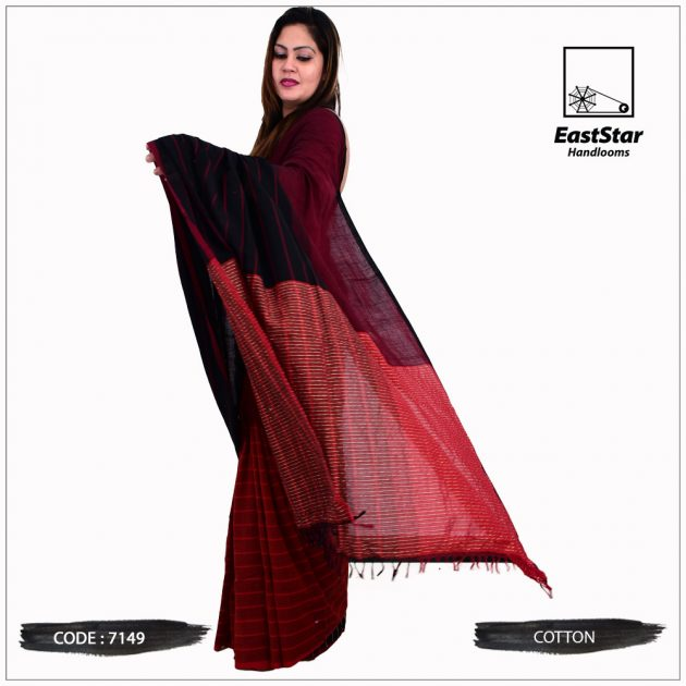 Code #7149 Handloom Cotton Saree