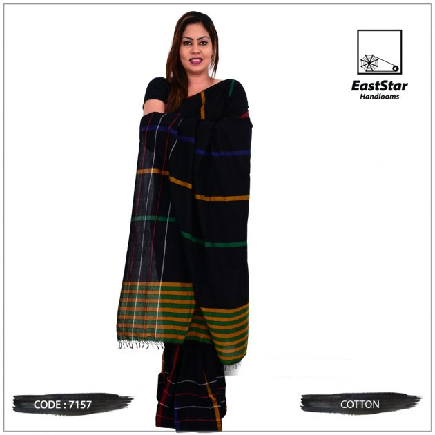Code #7157 Handloom Cotton Saree