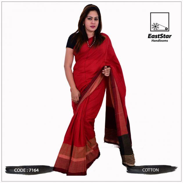 Code #7164 Handloom Cotton Saree
