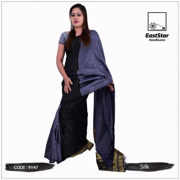Code #9147 Handloom Silk Saree