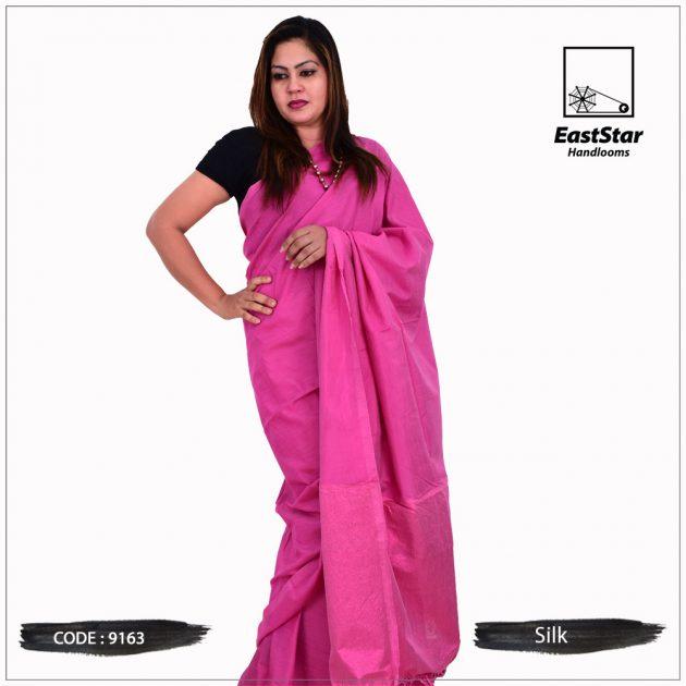 Code #9163 Handloom Silk Saree