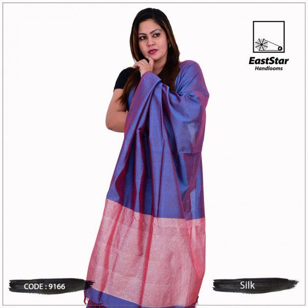 Code #9166 Handloom Silk Saree