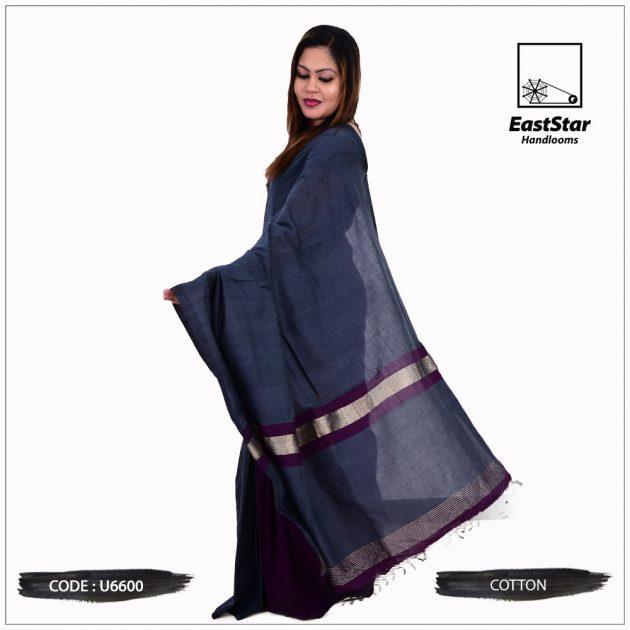 Code #U6600 Handloom Cotton Saree