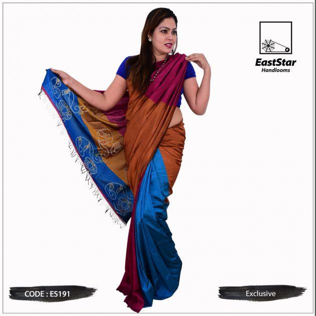 Code #ES191 Handloom Exclusive Silk Saree