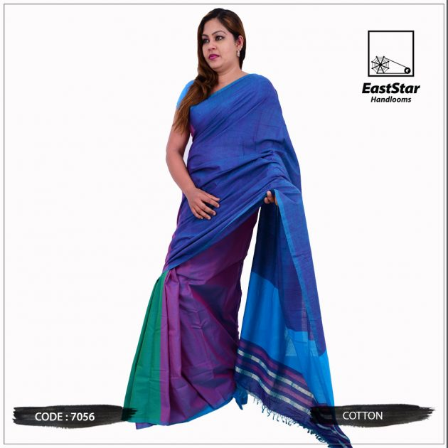 Code #7056 Handloom Cotton Saree
