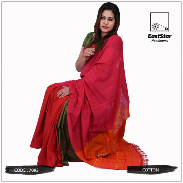 Handloom Cotton Saree 7093