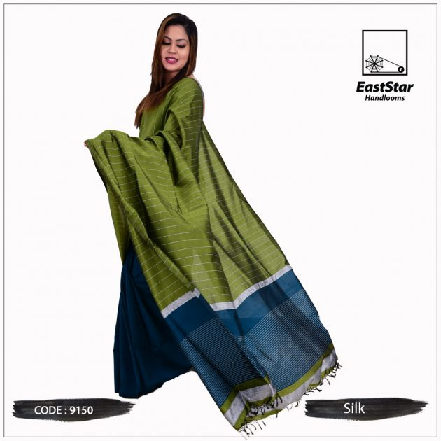 Code #9150 Handloom Silk Saree