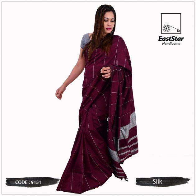 Code #9151 Handloom Silk Saree