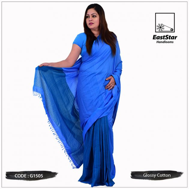 Glossy Cotton Saree G1505