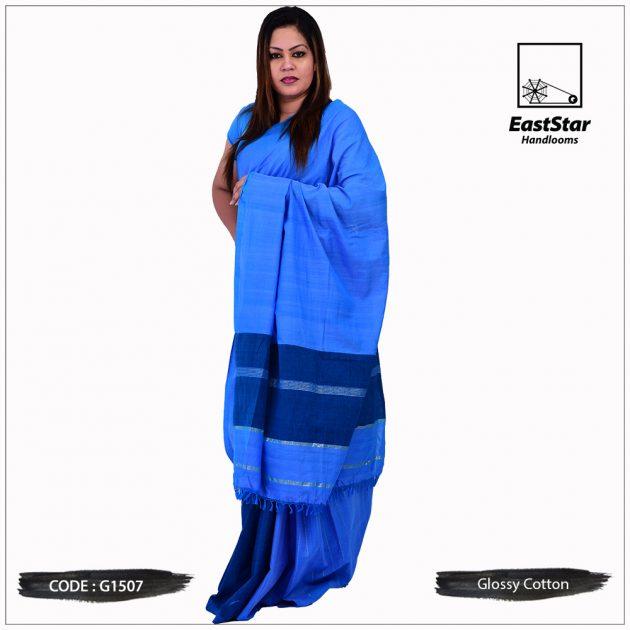 Glossy Cotton Saree G1507