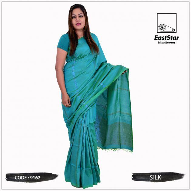 Code #9162 Handloom Silk Saree