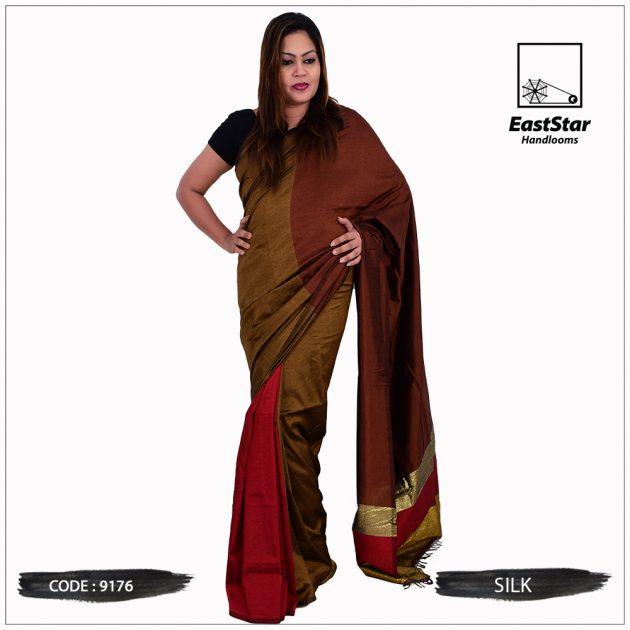Code #9176 Handloom Silk Saree
