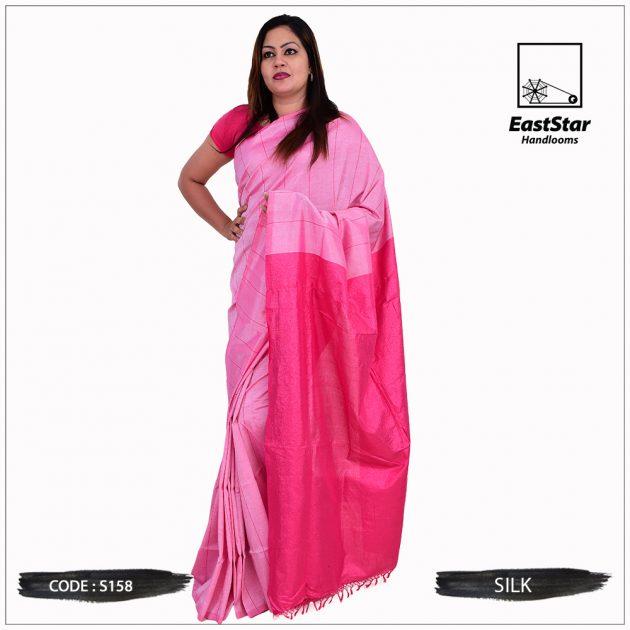 Code #S158 Handloom Silk Saree