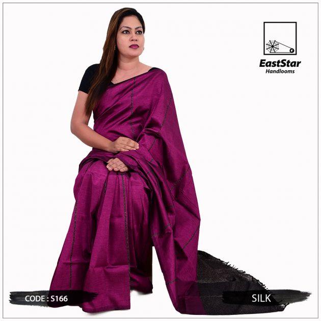 Code #S166 Handloom Silk Saree