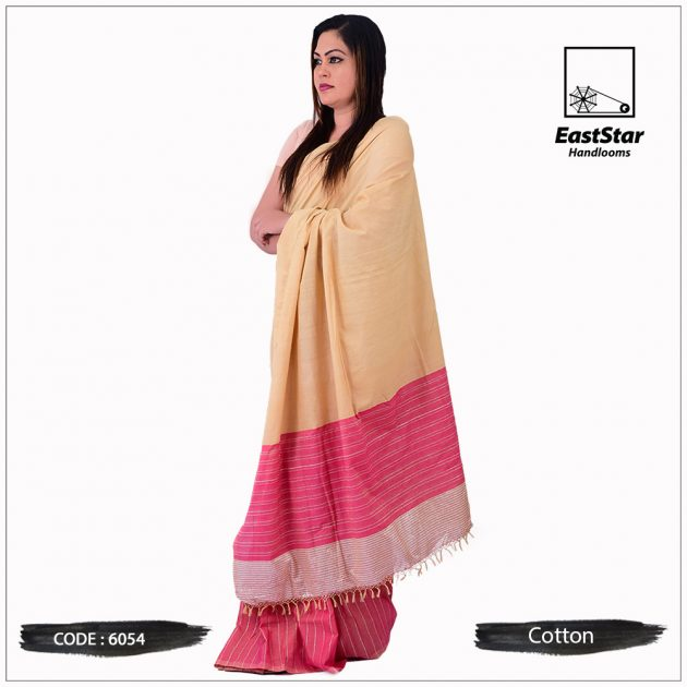 Code #6054 Handloom Cotton Saree
