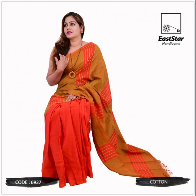 Handloom Cotton Saree 6937