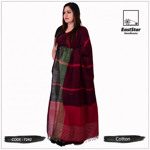 Handloom Cotton Saree 7242