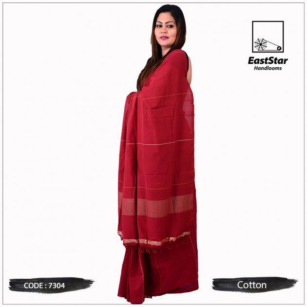 Handloom Cotton Saree 7304
