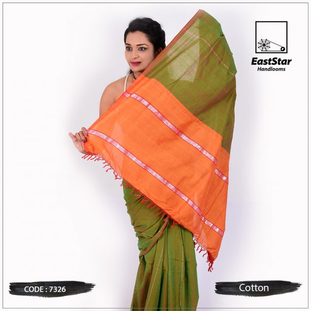 Handloom Cotton Saree 7326