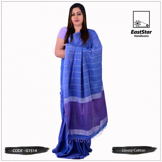 Glossy Cotton Saree G1514