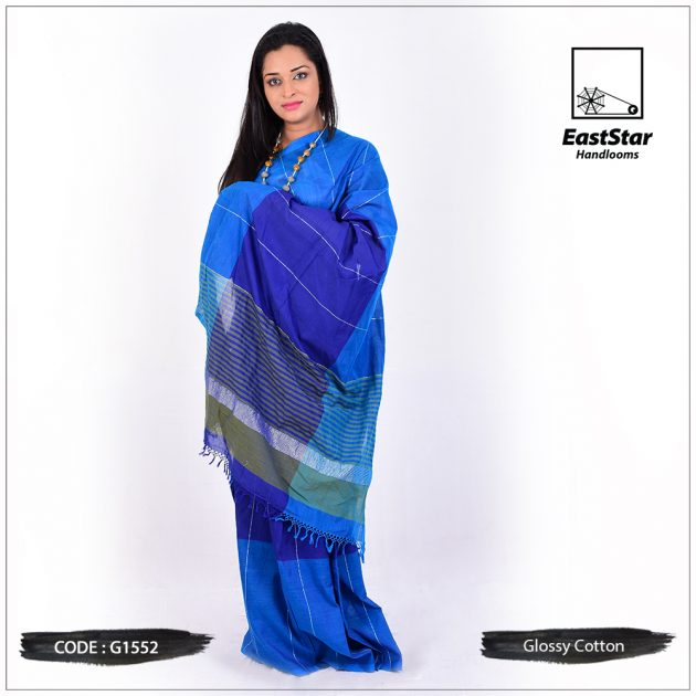 Glossy Cotton Saree G1552