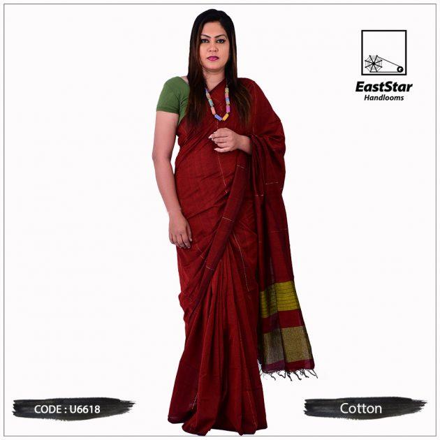 Handloom Cotton Saree U6618
